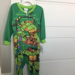 Brand New! 3T Ninja Turtles Onesie Pajamas